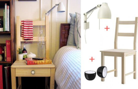 DIY Ikea chair as nightstand - NO.1# THE MOST BEAUTIFUL DIY BEDROOM NIGHTSTAND IDEAS