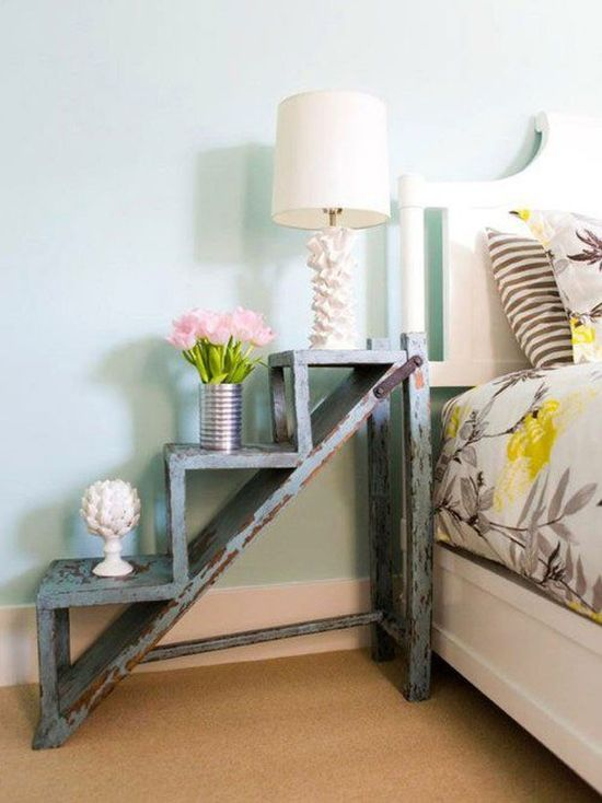 DIY step table nightstand for bedroom - NO.1# THE MOST BEAUTIFUL DIY BEDROOM NIGHTSTAND IDEAS