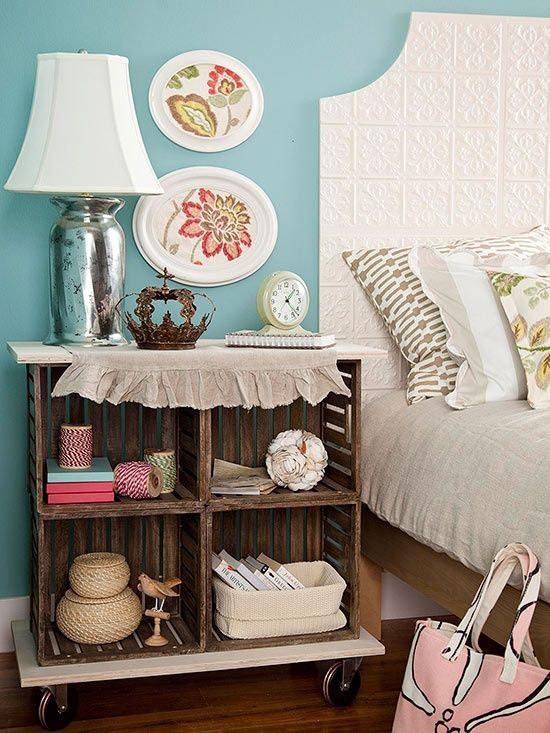 Cheap Nightstand Ideas Part - 47: DIY Nightstand Ideas