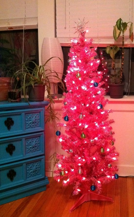 electrifying pink christmas tree ideas tree decorating ideas - Light Pink Christmas Tree