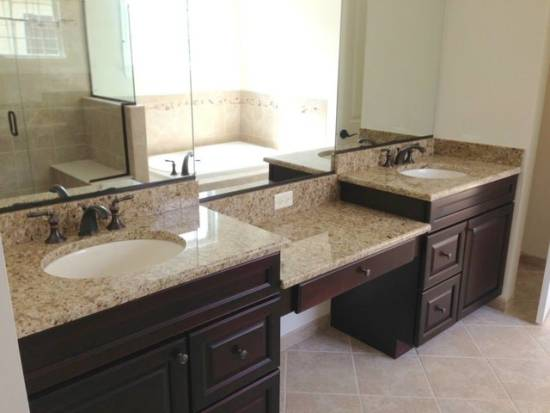 Bathroom countertop ideas and tips ultimate home ideas for Granite and tile bathroom ideas