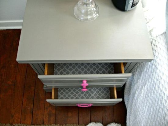 Painted DIY nightstand - NO.1# THE MOST BEAUTIFUL DIY BEDROOM NIGHTSTAND IDEAS