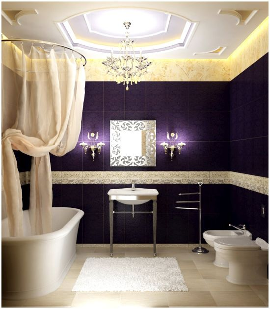 romantic bathroom style