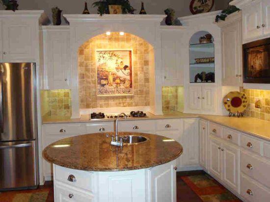 Vintage granite kitchen countertops