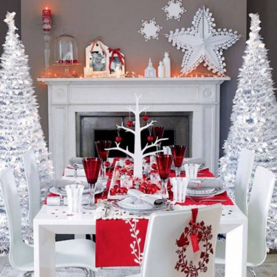 christmas centerpieces - How To Decorate A Christmas Table