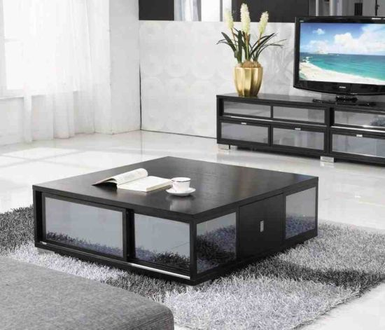 15 living room storage ideas ultimate home ideas - Glass tables for living room ...