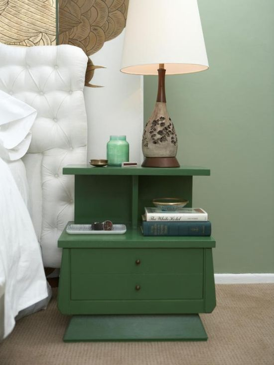 Two Tiered mid century DIY nightstand - NO.1# THE MOST BEAUTIFUL DIY BEDROOM NIGHTSTAND IDEAS