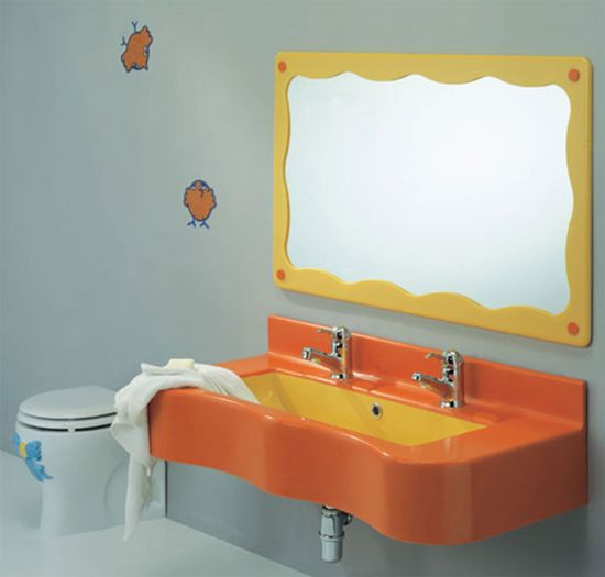25 kids bathroom decor ideas ultimate home ideas for Colorful bathroom mirrors