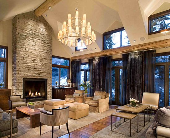 22 rustic living room designs ultimate home ideas - Rustic apartment interior wrapped in contemporary and traditional accent ...