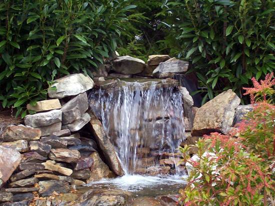 garden design with waterfall designs for your backyard ultimate home ideas with rock landscape design from - Waterfall Landscape Design Ideas
