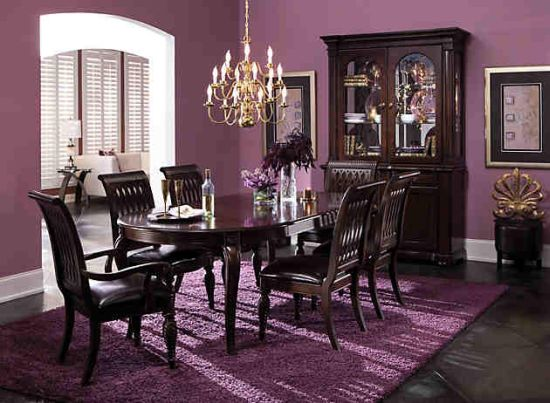 Merveilleux Purple Dining Room