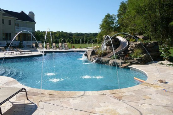Elegant Backyard Swimming Pool Ideas Images