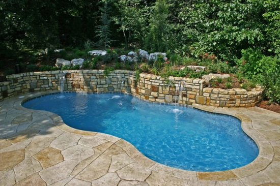 50 backyard swimming pool ideas ultimate home ideas for Backyard inground pool ideas