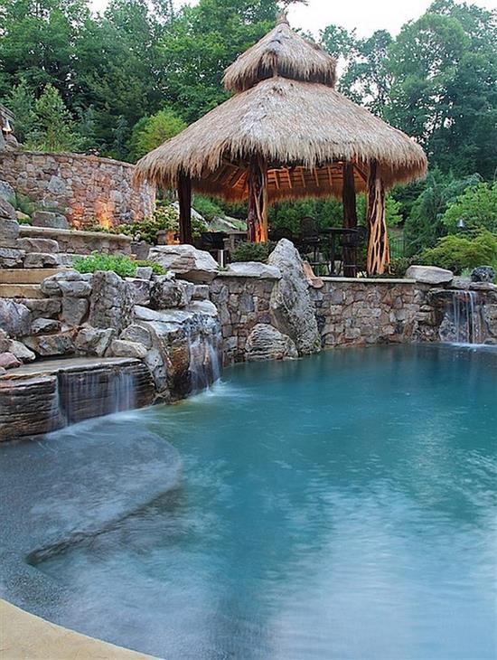 Pool Waterfall Ideas image of waterfall designs for swimming pools ideas Backyard Swimming Pool Ideas