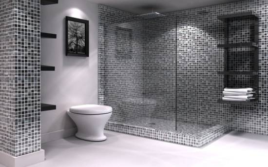 bathroom tile ideas - Bathroom Tile Ideas Black And White