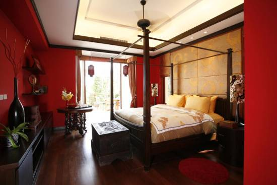 20 Red Master Bedroom Design Ideas