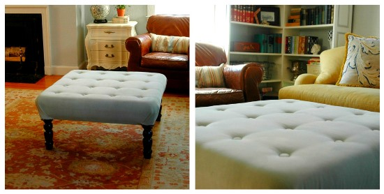 Fancy DIY Fabric Ottoman Coffee Table DIY ottoman ideas