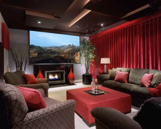 Elegant Home Theater Designs Great Pictures