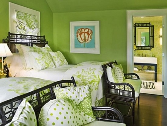 Bedroom Ideas For Teenage Girls Green 51 stunning twin girl bedroom ideas | ultimate home ideas