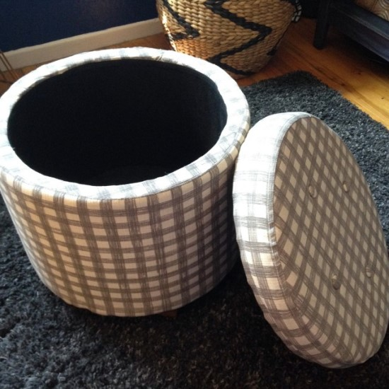 50 creative diy ottoman ideas ultimate home ideas for How to make a round ottoman with storage