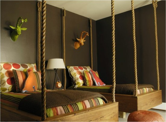 twin girls bedroom ideas - Brown Themed Bedroom Designs