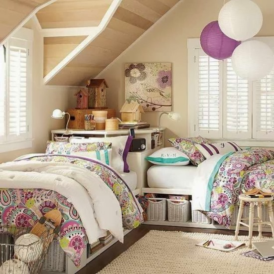 Teenage twins bedroom ideas