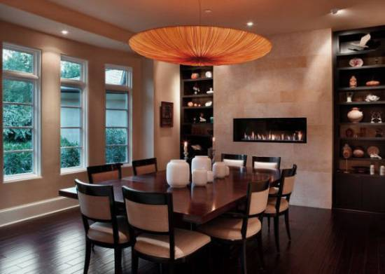 15 dining room wall decor ideas ultimate home ideas for Dining room fireplace ideas