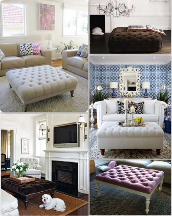 Tufted Diy Ottoman Coffee Tables Ideas