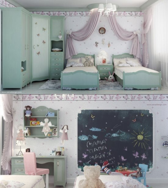 Teenage twin girls' bedroom ideas