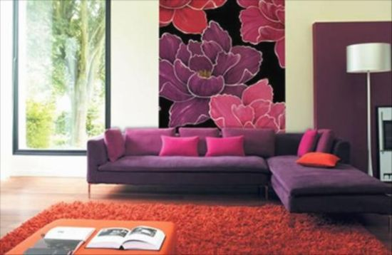 Appealing floral wallpaper design