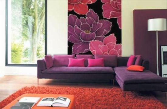 Appealing floral wallpaper design