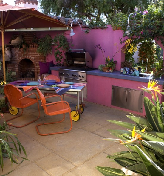 25 Of The Most Gorgeous Outdoor Kitchens: 50 Eclectic Outdoor Kitchen Ideas
