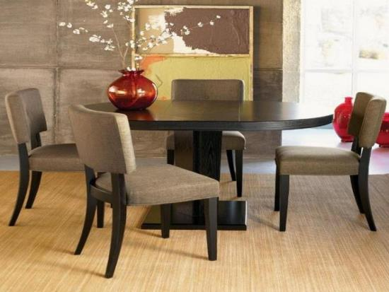 Epic Black Wooden Round Dining Table