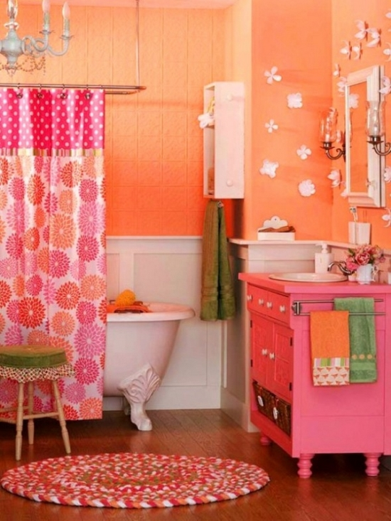 45 cool bathroom decorating ideas ultimate home ideas for Colourful bathroom ideas