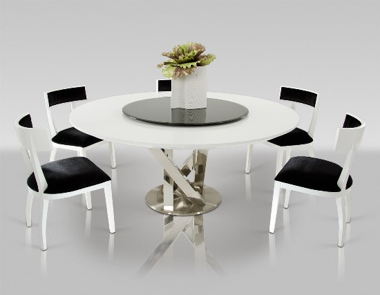 Contemporary Round Dining Table Design