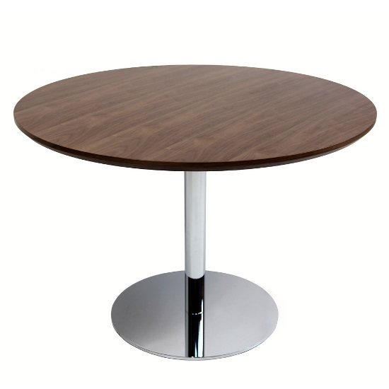 50 Round Dining Table Design Ideas Ultimate Home Ideas : Contemporary Walnut Wood and Steel Dining Table from www.ultimatehomeideas.com size 550 x 550 jpeg 28kB