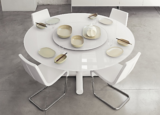 contemporary white round dining table round dining table designs