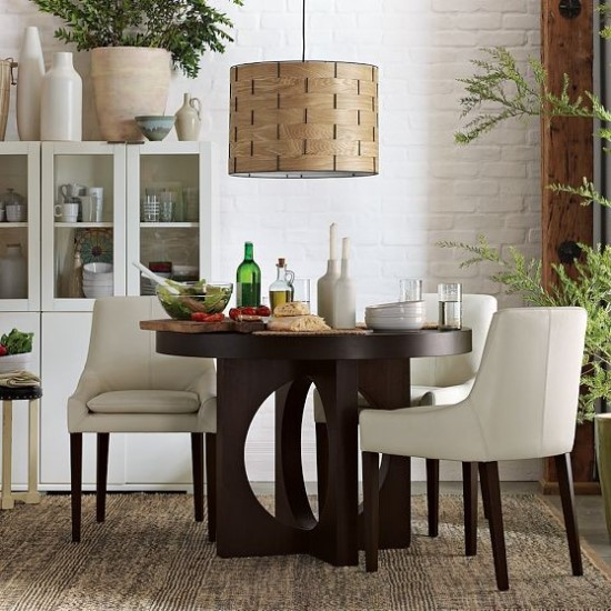 Lovely Contemporary Wooden Dining Table with Cutout Legs