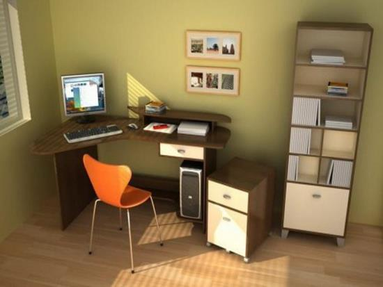 45 smart corner decoration ideas for your home Corner home office design ideas