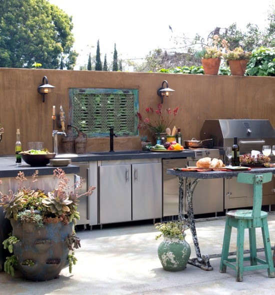 50 Eclectic Outdoor Kitchen Ideas