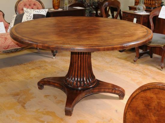 Fancy Elegant French Oak Round Dining Table