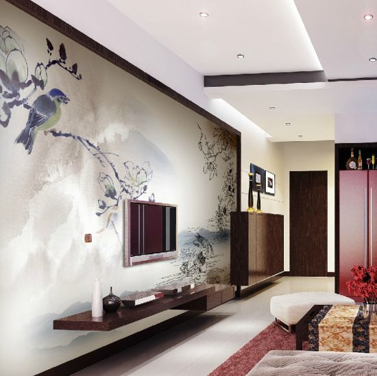 Gorgeous Chinese Sketch Wallpaper design