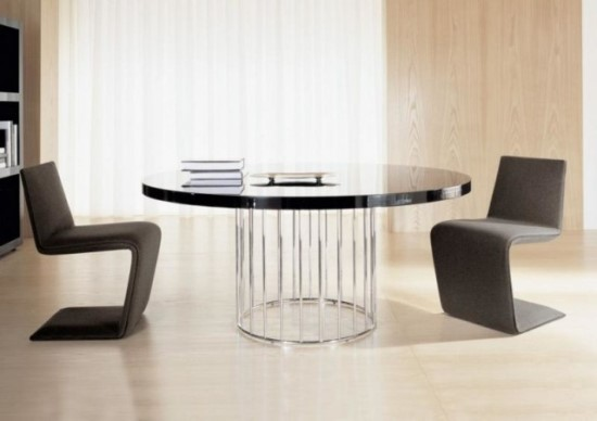 Epic Modern Black Round Dining Table