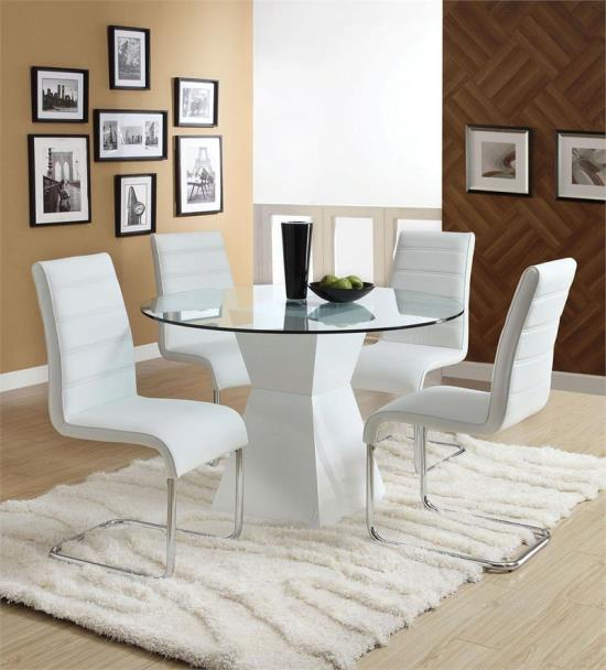 Modern Glass Round Dining Table
