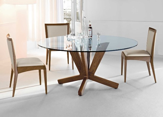 Modern Glass and Wood Dining Table. 50 Round Dining Table Design Ideas   Ultimate Home Ideas