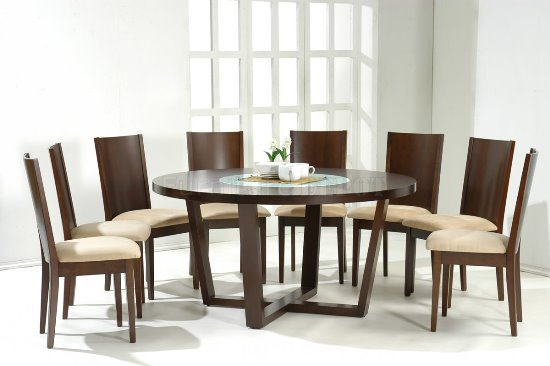 Spectacular  Modern Wooden Round Dining Table