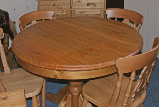 pine wood round dining table - Dining Table Round Wood