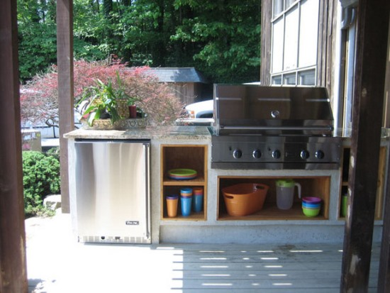 50 eclectic outdoor kitchen ideas ultimate home ideas for Outdoor grill cabinet design