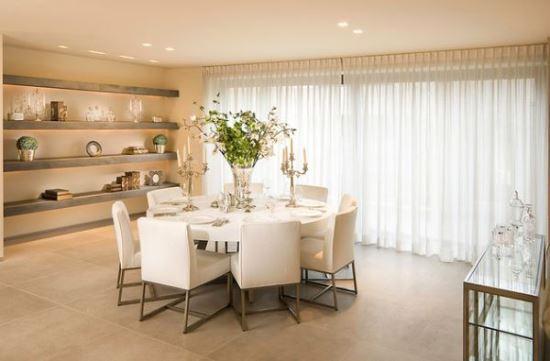 Superb Stylish White Round Dining Table