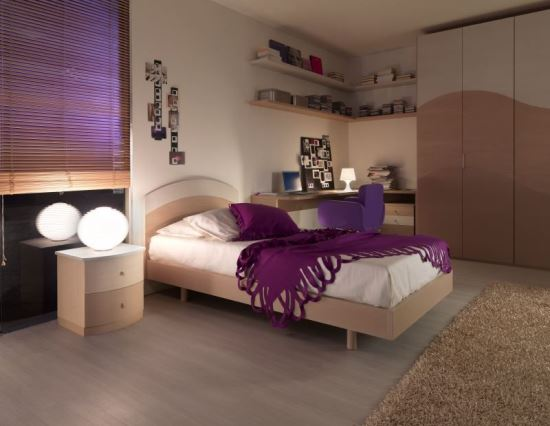 50 purple bedroom ideas for teenage girls ultimate home for Simple bedroom color ideas